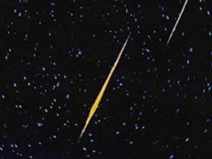 NASA image of Perseid meteors