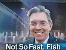 Fish wins bet, gets wet