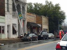 Winds rip roofs off Siler City businesses