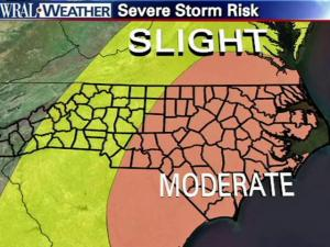 A look at the state's severe storm risk for April 16, 2011.