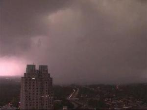 Tornado in downtown Raleigh