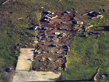 Sky 5: Storm damage in Dunn area