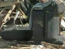 The Chambers' home at 3467 Vault Field Road in Linden was destroyed in Saturday's storms.