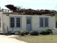Tornado flattens Clinton homes