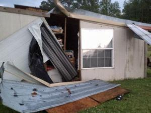 A look at severe weather damage in Rose Hill on April 28, 2011.
