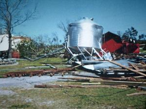 A tornado decimated Oak Down Stables in Colerain on April 16, 2011.
