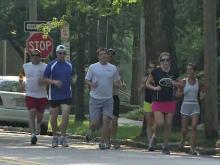 Raleigh running club sweats through the heat