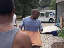 Raleigh movers brave the heat