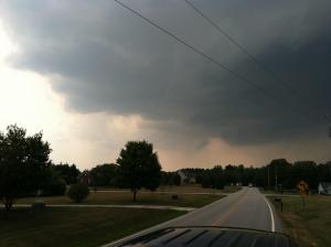 Viewer-submitted photo of storm clouds near the Wake County-Granville County line.