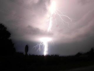 Lightning in Elm City, photo courtesy of Jacci Mayrie Queen