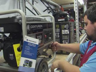 Generator sales soar in the days before a hurricane or snowstorm.