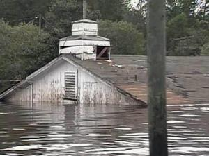 Rain from Hurricane Floyd in 1999 sent the nearby Tar River over its banks and left the Edgecombe County town of Princeville underwater for 10 days.