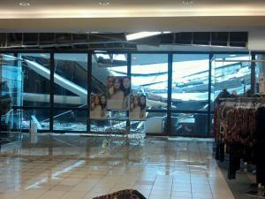 Wendy Thompson Brock, an employee at the Belk in Goldsboro, submitted this photo of Hurricane Irene damage from the Berkeley Mall.