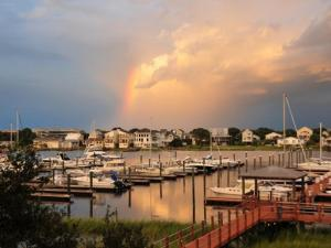 Connie Mitchell sent this photo taken at Carolina Beach after the worst of Irene had passed.