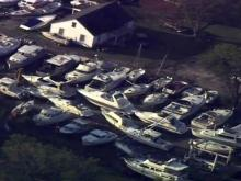 Sky 5: New Bern damage from Irene