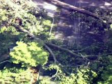 Sky 5: Rocky Mount damage from Irene