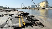 N.C. Highway 12 after Hurricane Irene