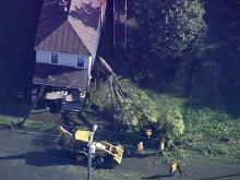 Sky 5: Washington damage from Irene