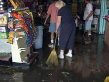 Stores, homes flooded along Outer Banks