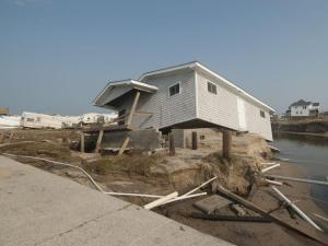 Hurricane Irene's winds battered structures along the North Carolina coast. (Photos by Donny Bowers.)