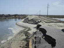 Hurricane Irene ripped apart N.C. 12, the only highway link along the Outer Banks.