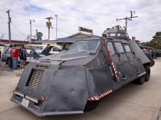 Sean Casey's Tornado Intercept Vehicle (TIV), an armored truck designed to capture data and footage for Tornado Alley. (Photo by Ryan McGinnis)