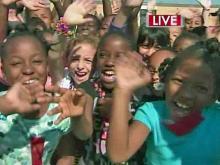 Tornado chasers, Fishel visit elementary school