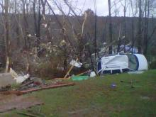 A 51-year-old woman and her 3-year-old granddaughter died when an apparent tornado struck their home on Meadow Run Lane in Davidson County on Nov. 15, 2011.