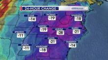 IMAGES: Bitterly cold temps will be brief, but intense