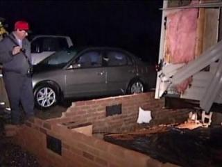 A photo of storm damage from an apparante tornado that hit Rutherford and Burke counties in western North Carolina Jan. 11, 2012. (Image from WSPA in Spartanburg, S.C.)