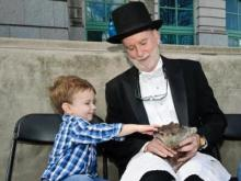 Raleigh's famous groundhog, Sir Walter Wally, saw its shadow Feb. 2, 2012, indicating another six weeks of winter.