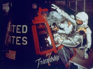 Glenn boards Friendship 7 (credit: NASA)
