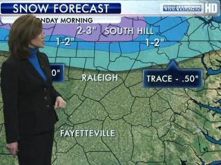 The snow forecast for Monday, March 5, 2011