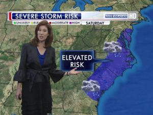 N.C. has an elevated risk of severe wather on Saturday.