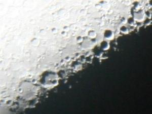 "Lunar X as seen on January 30, 2012 through an 8"" telescope with an iPhone  (Credit: Tony Rice)"