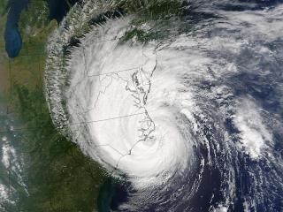 Isabel making landfall over the NC coast.