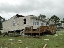 Storms damage houses in Carteret County