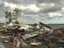 Beryl-spawned tornado hits Carteret County