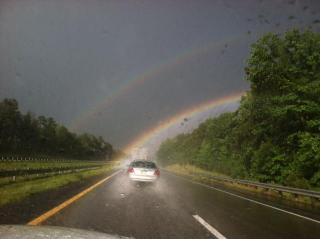 Amy Holloway took this photo headed north on Interstate 85 Friday night.