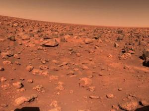 First color image of the Martian surface, from Viking 1 (Photo courtesy of NASA/JPL)