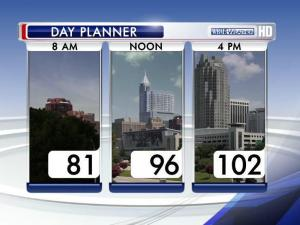 Temperatures are headed back over the 100-degree mark July 6, 7 and 8.