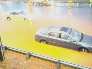 Cars flooded along I-40 in Greensboro