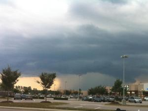 Storm clouds in Knightdale on July 19.