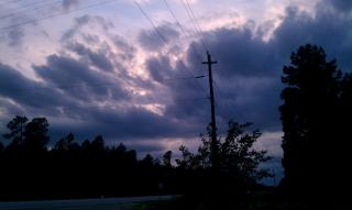 Clouds seen looking west from Sumter, SC around 8 pm July 20th.
