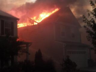 Holly Springs house fire (photo courtesy of Thomas Babb)