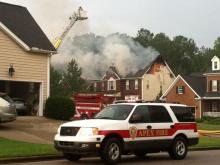 Apex house fire