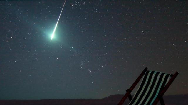 A particularly bright meteoroid (Credit: Lunar Science Institute)