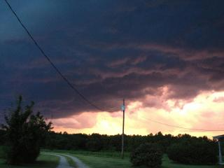 Storm brewing border of Franklin & Vance Counties. (Photo courtesy of Rebecca Bass)