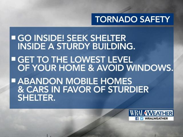 Go inside! Seek shelter inside a sturdy building. Get to the lowest level of the building and avoid windows. Abandon cars and mobile homes in favor of sturdier shelter.