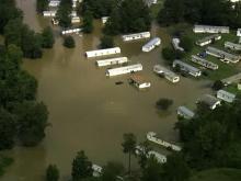Floods hit Roanoke Rapids area